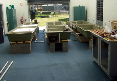 Clontarf High Aquaponics Educational system under construction December 2010